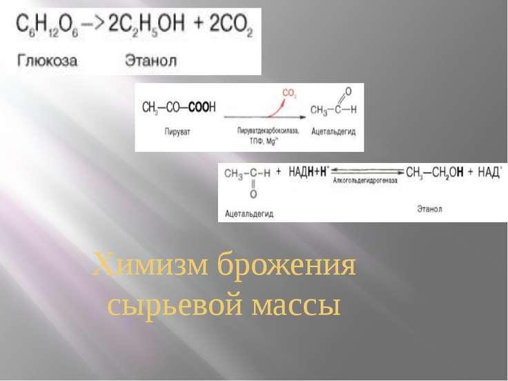 Химизм брожения сырьевой массы