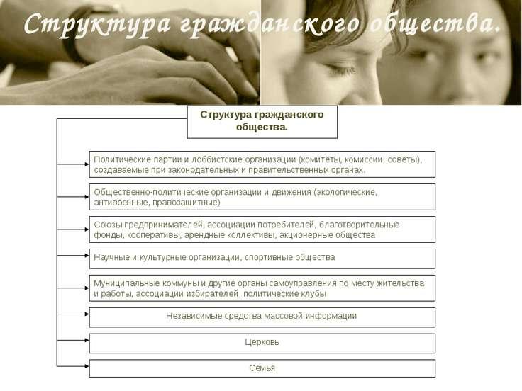 Структура гражданского общества. Структура гражданского общества. Политически...