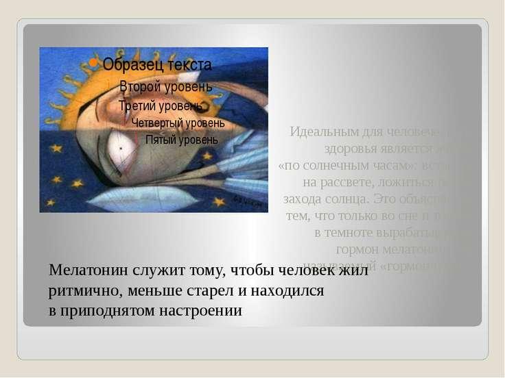 Идеальным для человеческого здоровья является жизнь «посолнечным часам»: вст...