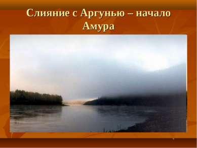 Слияние с Аргунью – начало Амура