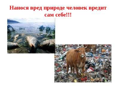 Нанося вред природе человек вредит сам себе!!!