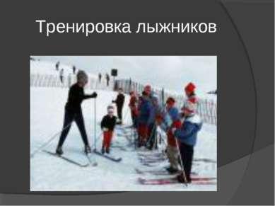 Тренировка лыжников