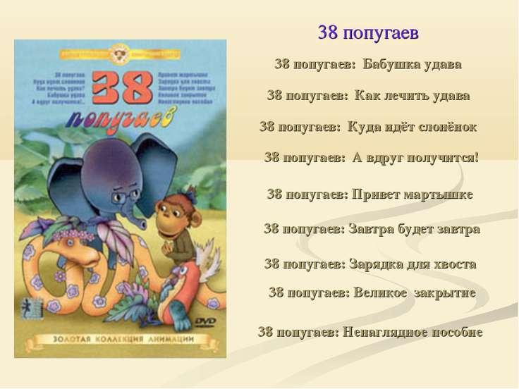 38 попугаев 38 попугаев: Бабушка удава 38 попугаев: Как лечить удава 38 попуг...