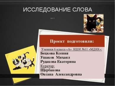 ЛЕКСИЧЕСКОЕ ЗНАЧЕНИЕ Кошка (женский род) известное домашнее животное. Вообще ...