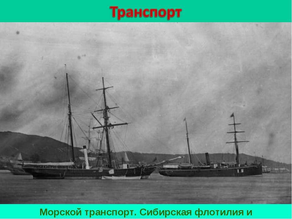 Морской транспорт. Сибирская флотилия и Добровольный флот.