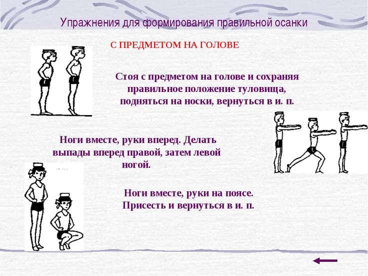 Упражнения для формирования правильной осанки С ПРЕДМЕТОМ НА ГОЛОВЕ Стоя с пр...