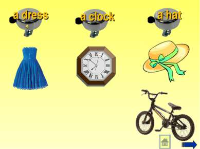 a hat a dress a clock