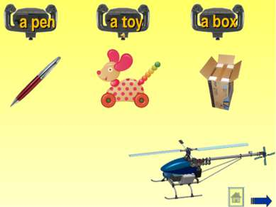 a pen a toy a box