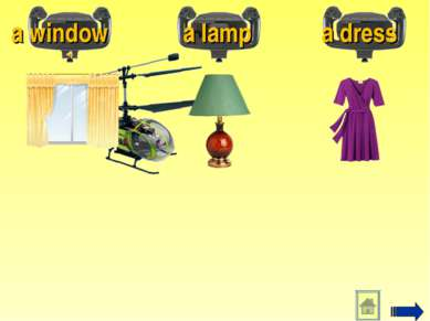 a window a lamp a dress