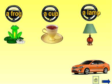 a frog a cup a lamp