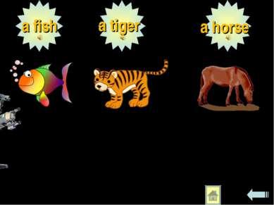 a fish a tiger a horse