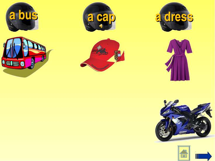 a dress a cap a bus
