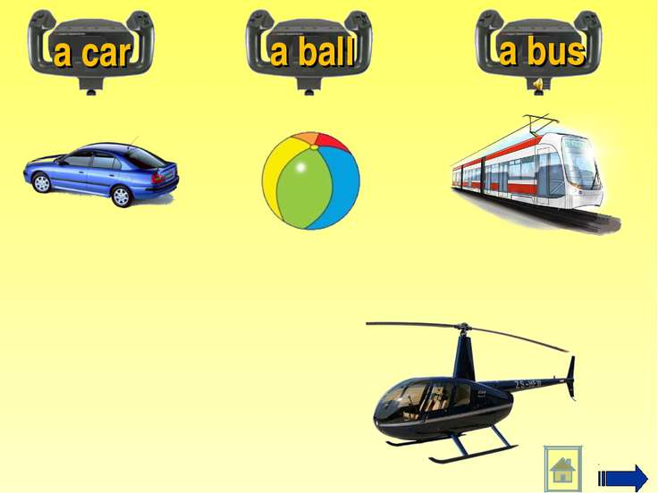 a car a ball a bus
