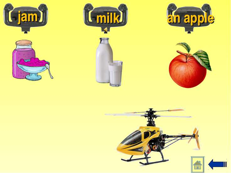jam milk an apple
