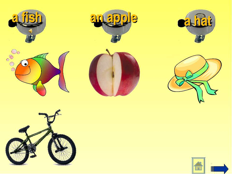 a hat an apple a fish