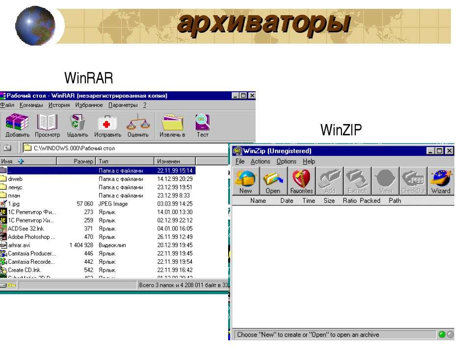 архиваторы WinRAR WinZIP