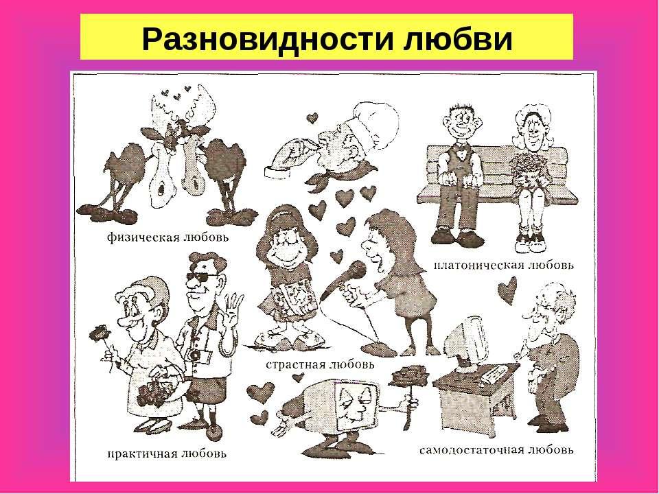 Разновидности любви