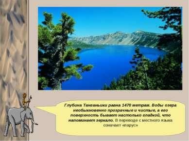 Глубина Танганьики равна 1470 метрам. Воды озера необыкновенно прозрачные и ч...