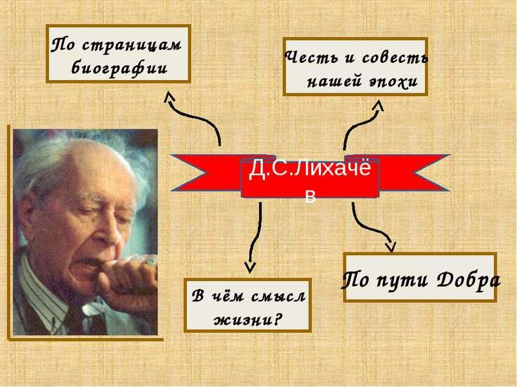 Д.С.Лихачёв По пути Добра Честь и совесть нашей эпохи По страницам биографии ...