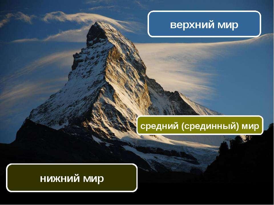 верхний мир средний (срединный) мир нижний мир