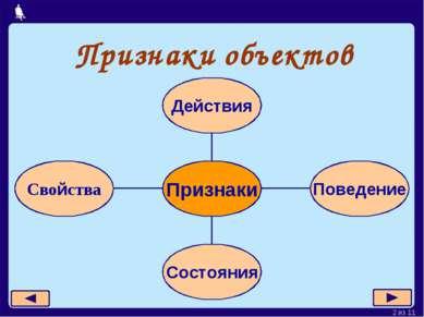 Признаки объектов * из 11