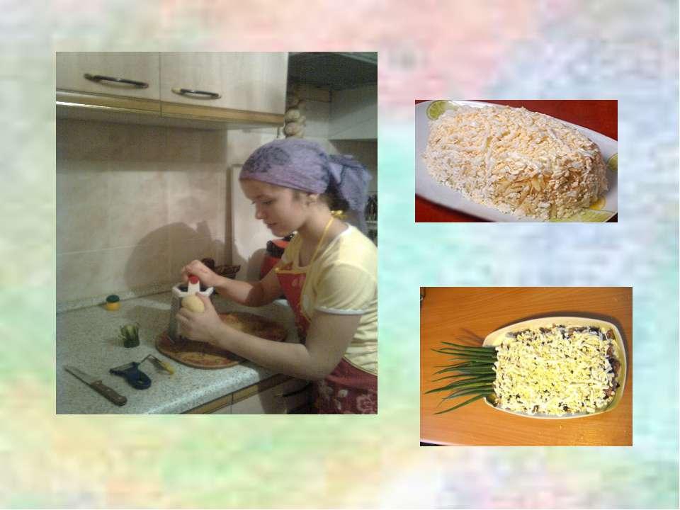 4-й слой:маринованные огурцы 5-й слой:оставшееся куриное мясо 6-й слой:сыр...