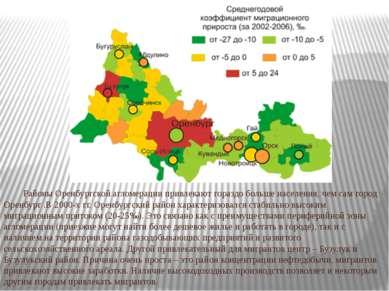 Районы Оренбургской агломерации привлекают гораздо больше населения, чем сам ...