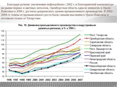 Благодаря резкому увеличению нефтедобычи с 2002 г. и благоприятной конъюнктур...