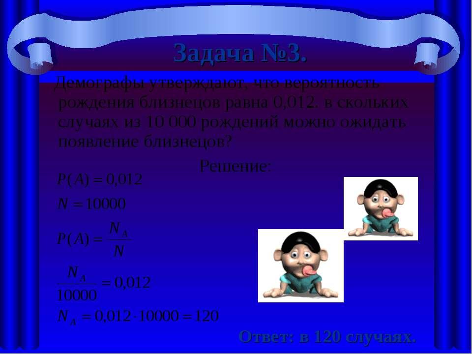 Демографы утверждают, что вероятность рождения близнецов равна 0,012. в сколь...