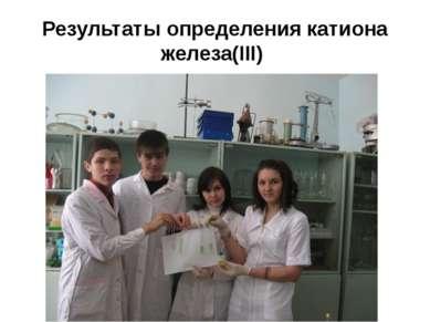 Результаты определения катиона железа(III)