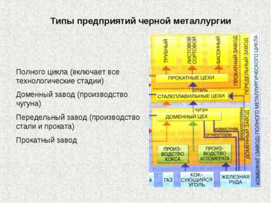 Полного цикла (включает все технологические стадии) Доменный завод (производс...