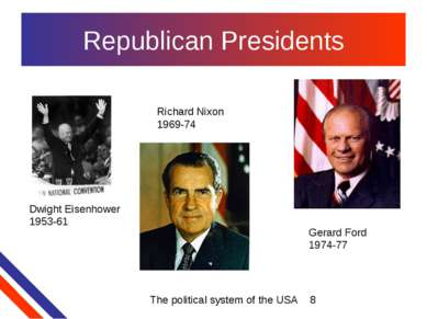 Republican Presidents Dwight Eisenhower 1953-61 Richard Nixon 1969-74 Gerard ...