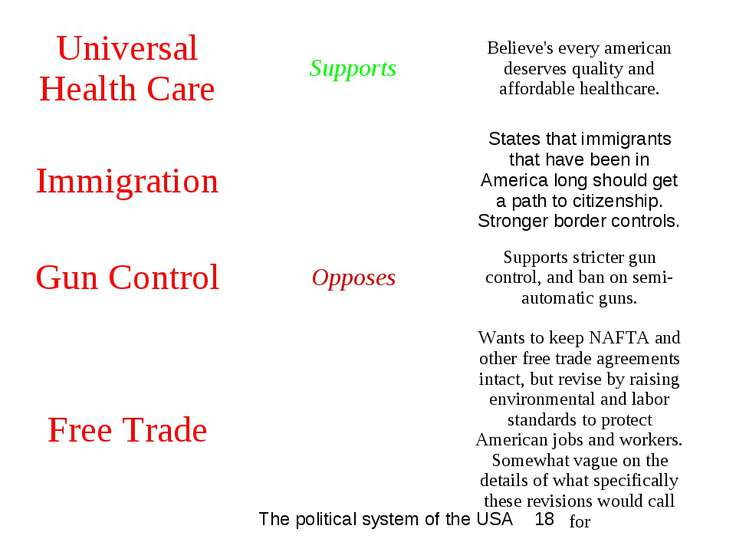 Universal Health Care Supports Believe's every american deserves quality and ...