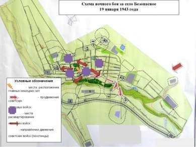 Схема ночного боя за село Безопасное 19 января 1943 года Условные обозначения...