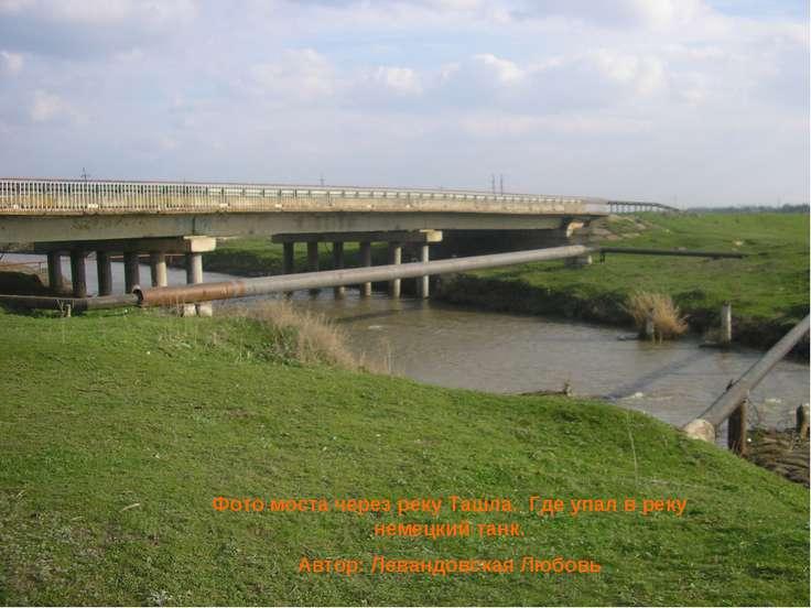 Фото моста через реку Ташла. Где упал в реку немецкий танк. Автор: Левандовск...