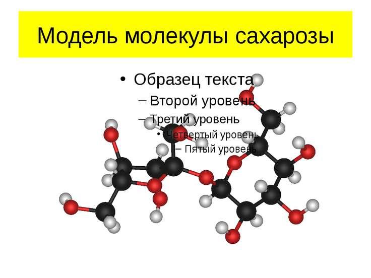 Модель молекулы сахарозы