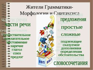 Жители Грамматики- Морфологии и Синтаксиса
