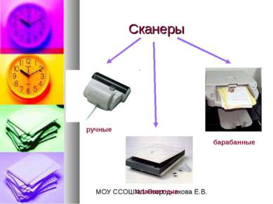Сканеры ручные планшетные барабанные МОУ ССОШ№1 Огородникова Е.В.