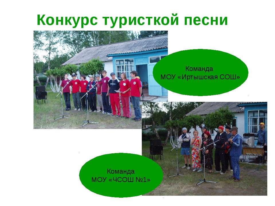 Конкурс туристкой песни Команда МОУ «Иртышская СОШ» Команда МОУ «ЧСОШ №1»