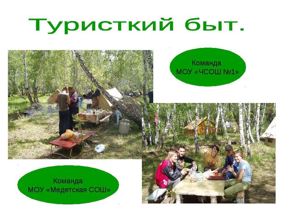 Команда МОУ «Медетская СОШ» Команда МОУ «ЧСОШ №1»