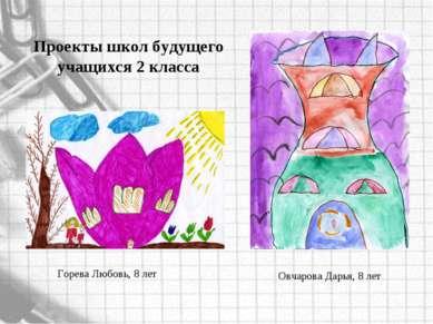 Овчарова Дарья, 8 лет Горева Любовь, 8 лет Проекты школ будущего учащихся 2 к...