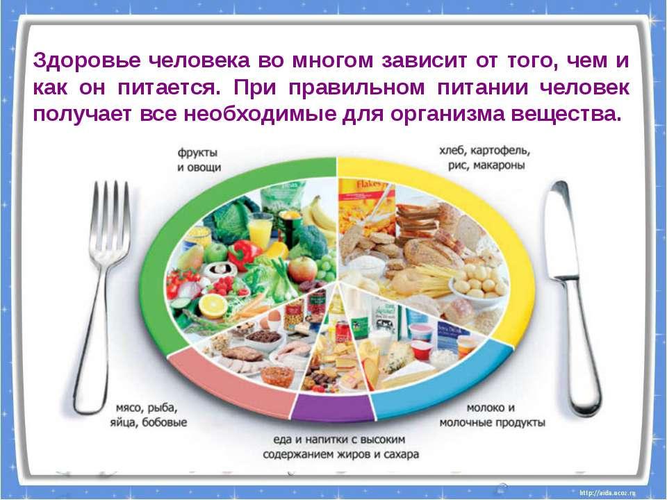 Здоровье человека во многом зависит от того, чем и как он питается. При прави...