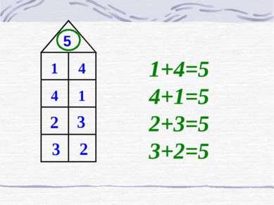 5 1 1 4 4 2 3 2 3 1+4=5 4+1=5 2+3=5 3+2=5