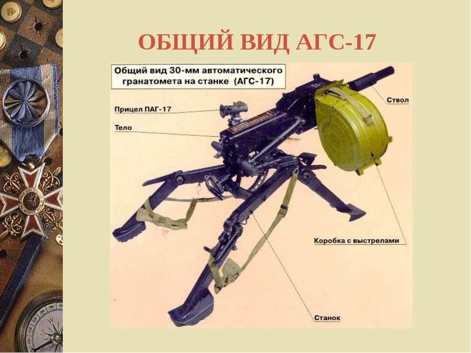 ОБЩИЙ ВИД АГС-17