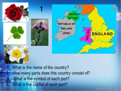 What is the name of the country? How many parts does this country consist of?...