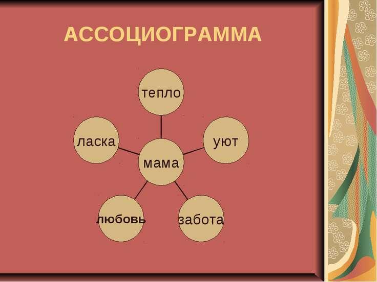 АССОЦИОГРАММА