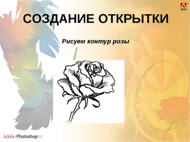 СОЗДАНИЕ ОТКРЫТКИ Рисуем контур розы