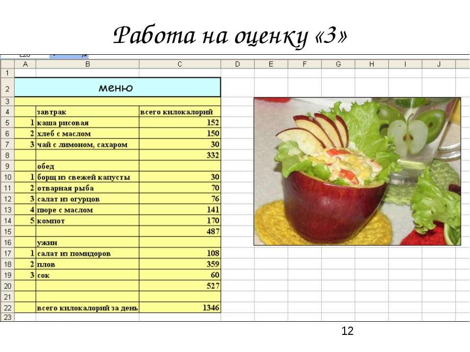 составить меню правильного питания на неделю онлайн