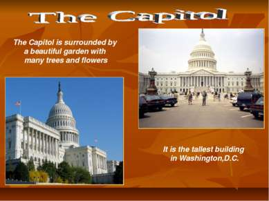 It is the tallest building in Washington,D.C. The Capitol is surrounded by a ...