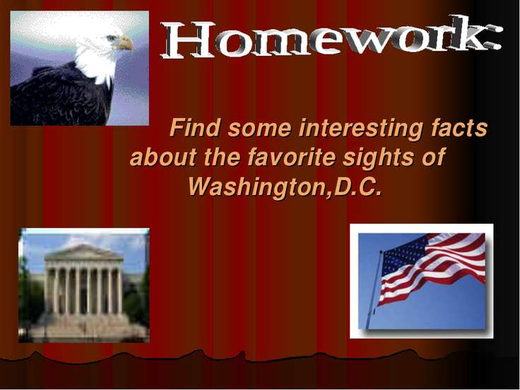Find some interesting facts about the favorite sights of Washington,D.C.